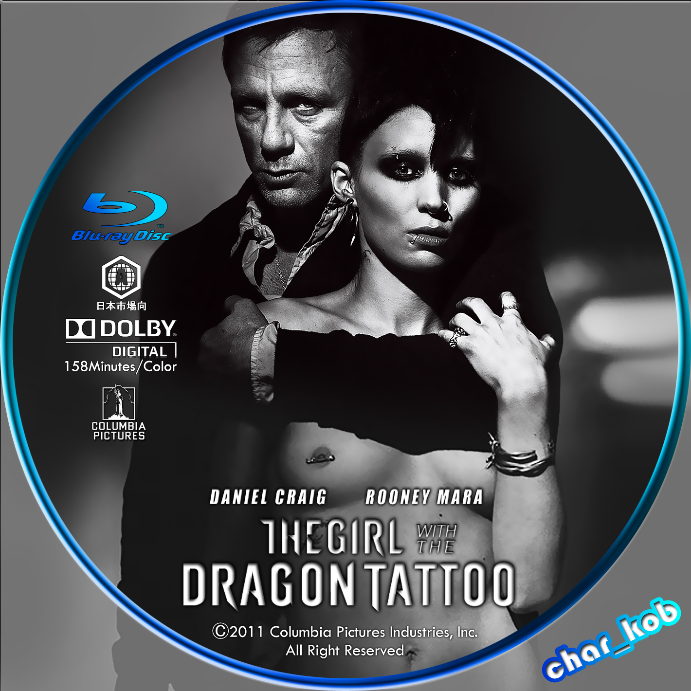 Dvd char kob 39 s custom dvd label for The girl with the dragon tattoo series order